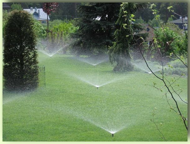 Системы полива газонов своими руками фото